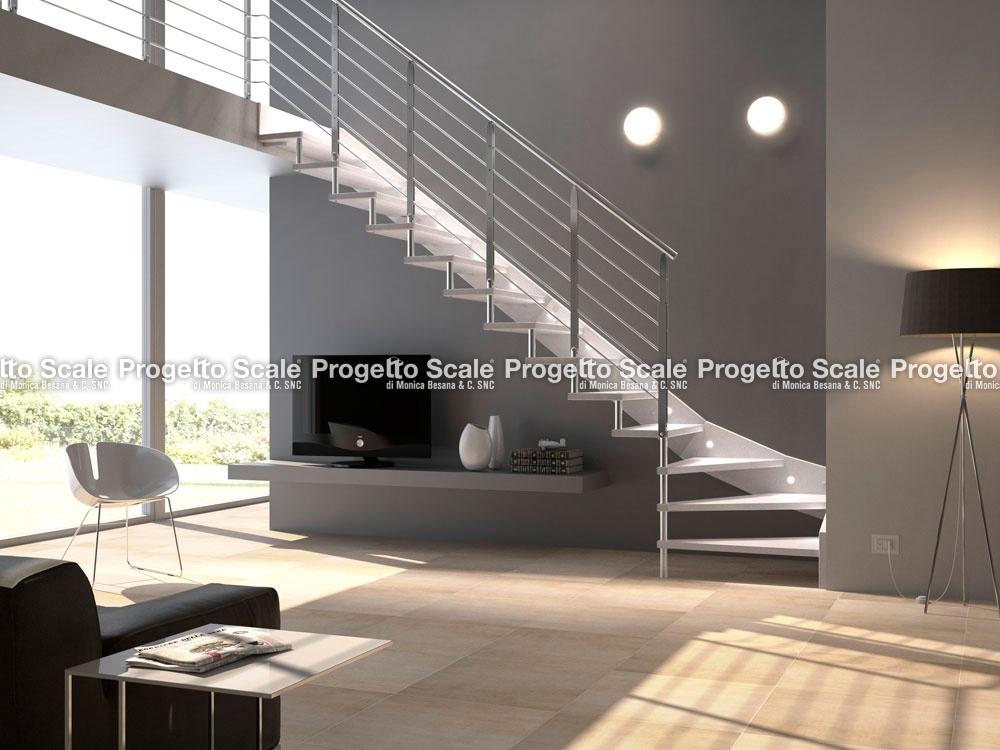 Scale a giorno struttura a fascia in legno scala for Normativa scale interne abitazioni