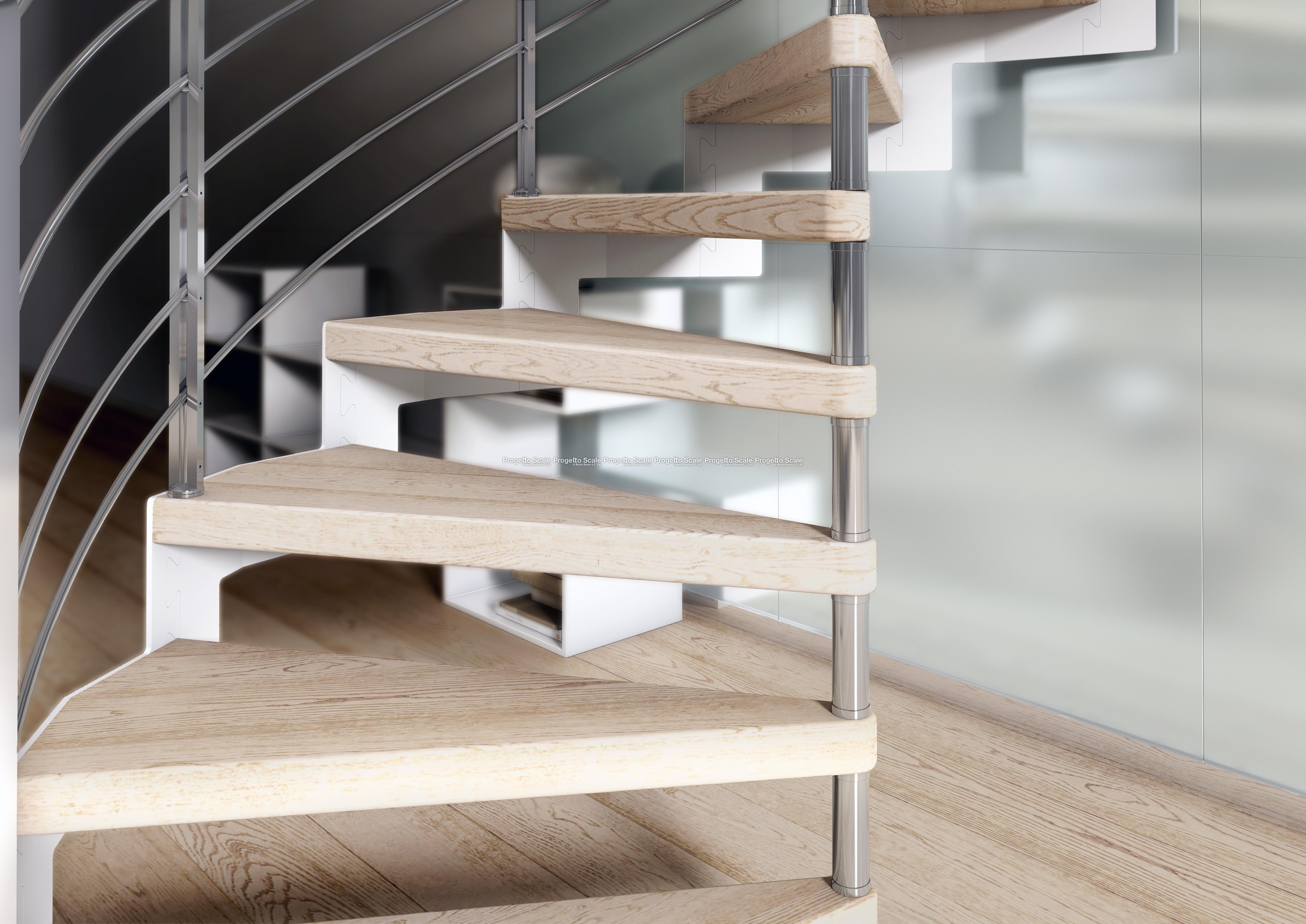 Scale a chiocciola gradini in legno scala a chiocciola - Gradini per scale a chiocciola ...