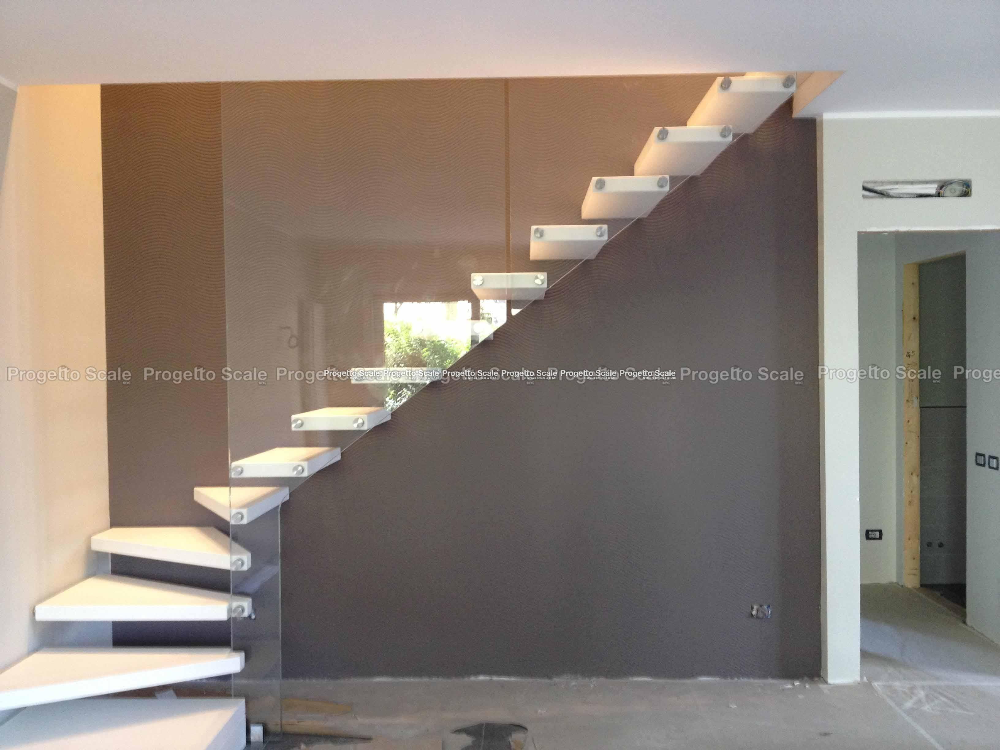 Progettazione Scale Normativa : Scale a sbalzo gradini in resina scala a sbalzo gradini in resina